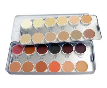 Derma Color Camouflage Palette, 24 Colors
