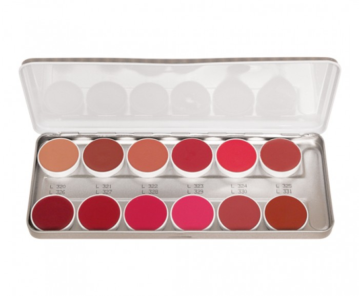 Lip Rouge Palette 12 Colors - Classic 2 by kryolan #2
